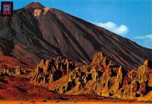 Spain Santa Cruz de Tenerife Ucanca Valley and Teide Peak Postcard