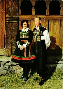 CPM AK National Costumes from Setesdal - Folklore NORWAY (779594)