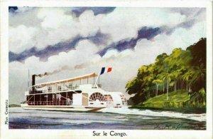 CPA AK Sur le Congo - Steamer on the River SHIPS (911308)