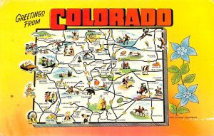Maps Colorado USA 1968