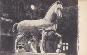 Italy Padova Pallazo della Ragione Cavallo in legno