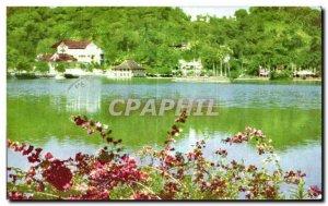 Postcard Modern Sri Lanka Ceylon Temple of the Tooth Candy Across the lake