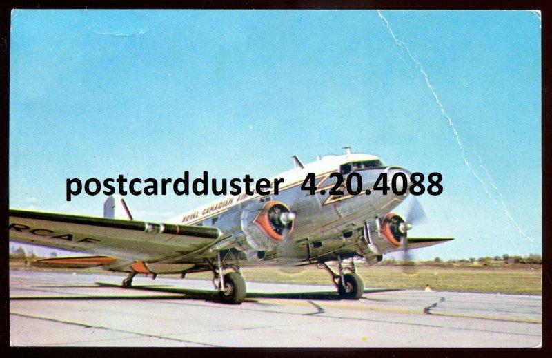 dc63 - CANADA MILITARY Postcard 1980s RCAF DAKOTA Air Force Transport Airplane