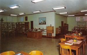 Hazlehurst Mississippi~Free Public City Library~Interior~Book Shelves~1950s PC