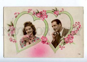 202645 VALENTINE Day HEARTS Lovers Vintage PHOTO Collage PC