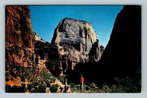Zion National Park UT-Utah, The Great White Throne, Chrome Postcard