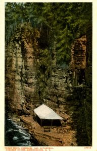 NY - Ausable Chasm. Table Rock, Sentinel, Cathedral