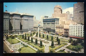 San Francisco, California/CA Postcard, Union Square, 1960's?