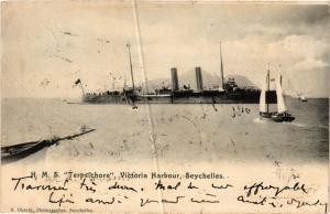 CPA H.M.S. TERPSICHORE Victoria Harbour, Seychelles SHIPS (703667)