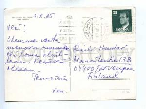 196045 SPAIN Gran Canaria Semi-nude girl LIGHTHOUSE old RPPC