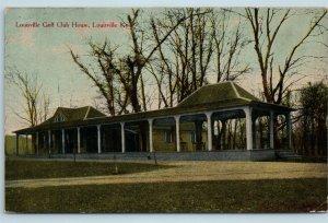 Postcard KY Louisville The Louisville Golf Club House 1912 Hagby Howe Drug C01