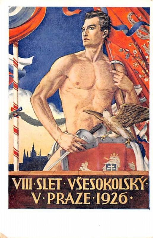 Czechoslovakia, Ceskoslovenske, Ceske Obce Sokolske VIII Slet Vsesokolsky 192...