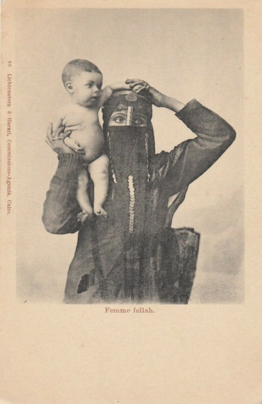 Femme fellah (Mother & child) , Egypt , 1901-07