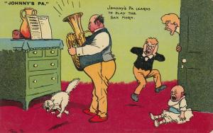 AS; TOM B.,  PU-1908; Johnny's Pa Learns to play the Sax Horn