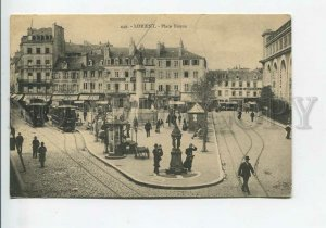 435946 FRANCE LORIENT Place Bisson TRAMS shops Cafe pharmacy Vintage postcard