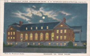 Moonlight Scene Recreation Building U S Veterans Administration Facility Roan...