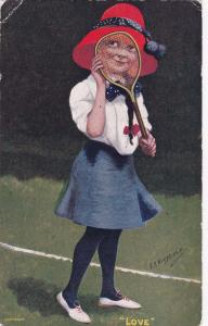Tennis Girl , PU-1907; Love