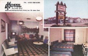 ALMA LAC ST. JEAN, Quebec, Canada, PU-1987; Hotel Motel Alma Inc., Multiple V...