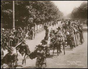 Austria 1908 Kaiser Franz Joseph Huldigungs Festival RPPC Maximilian I 94841