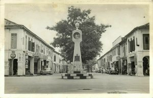 malay malaysia, PORT DICKSON, Clock Tower, Cars, Coca Cola (1950s) Real Photo