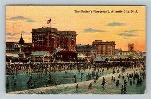 Atlantic City NJ-New Jersey, Nation's Playground, Vintage c1913 Postcard