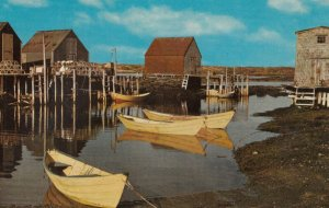BLUE ROCKS , Nova Scotia , 1956 ; Dories at rest