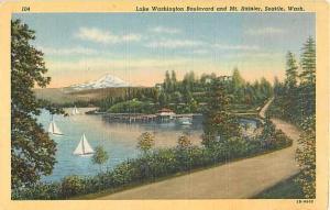 Linen Card of Lake Washington Boulevard Seattle WA