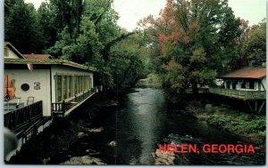Helen, Georgia Postcard Stream That Runs Through the City c1980s Chrome Unused