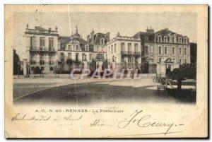 Old Postcard Rennes La Prefecture