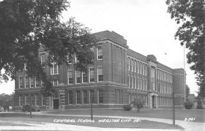 Webster City Iowa Central School Real Photo Antique Postcard K98260