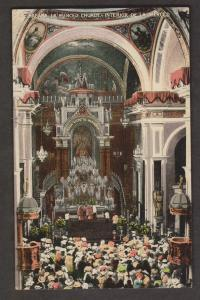 Interior Of Merced Church, Havana, Cuba - Unused c1910s