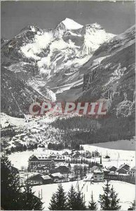 Modern Postcard Kandersteg put Blumlisalp