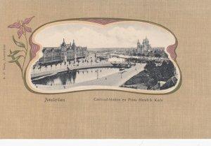 AMSTERDAM , Netherlands , 1900-10s ; Centraal-Station en Prins Hendrik Kade