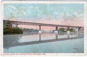 Springfield, Mass, Railroad Bridge and Water Shop Pond