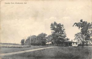 Anderson Indiana~Long Drive to Country Club~1909 B&W Postcard
