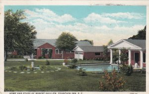 FOUNTAIN INN, South Carolina, PU-1938; Home And Study Of Robert Quillen