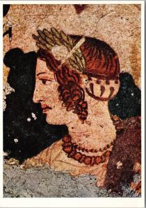 Pitture Etrusche Di Tarquinia Art Repro Unused Postcard D50