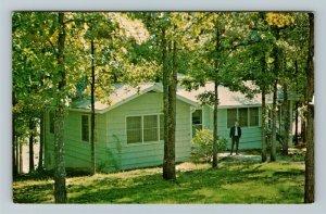 Hardin KY-Kentucky, Cottage, Kenlake State Resort Park, Chrome Postcard