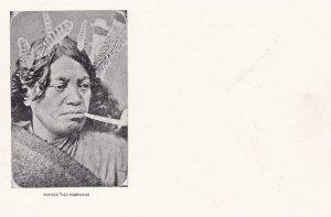 New Hebrides (now Vanuatu), 1890s; Popinee Neo-Hebridaise, Native man smoking