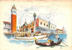Canal Scene Italy Postal Used Unknown