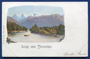 Gruss aus Thunersee Switzerland postcard
