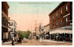 New York  White Plains , Railroad Avenue looking West