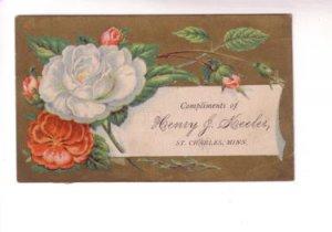 Calling, Visiting Card Roses Henry Keeler St Charles Minnesota