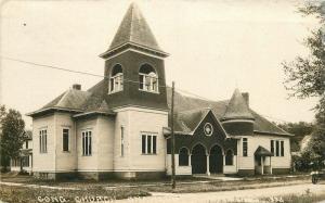 Congregational Church 1919 ONAWA IOWA Monona County RPPC real photo 3832