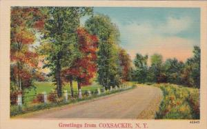 New York Greetings From Coxsackie 1942