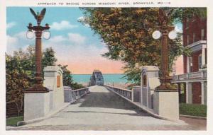 Missouri Boonville Approach To Bridge Across Missouri River