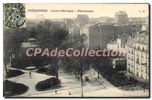 Postcard Old Vincennes Course Marigny Panorama