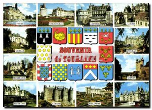 Modern Postcard Souvenir de Touraine