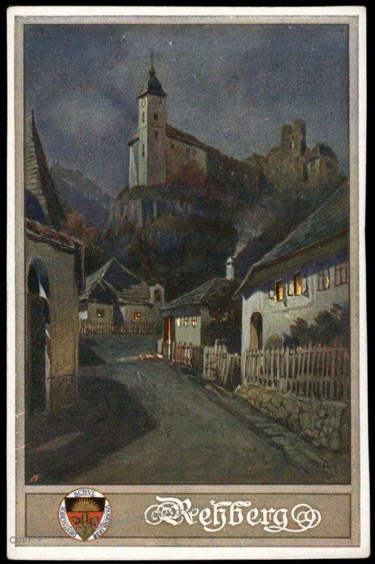 Austria Rehberg WWI German Unification DSV Patriotic Postcard UNUSED 98825