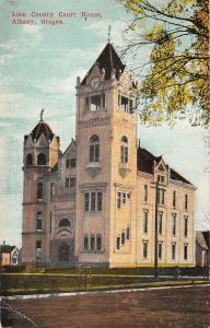 Linn County Court House Albany oregon antique postcard L3751